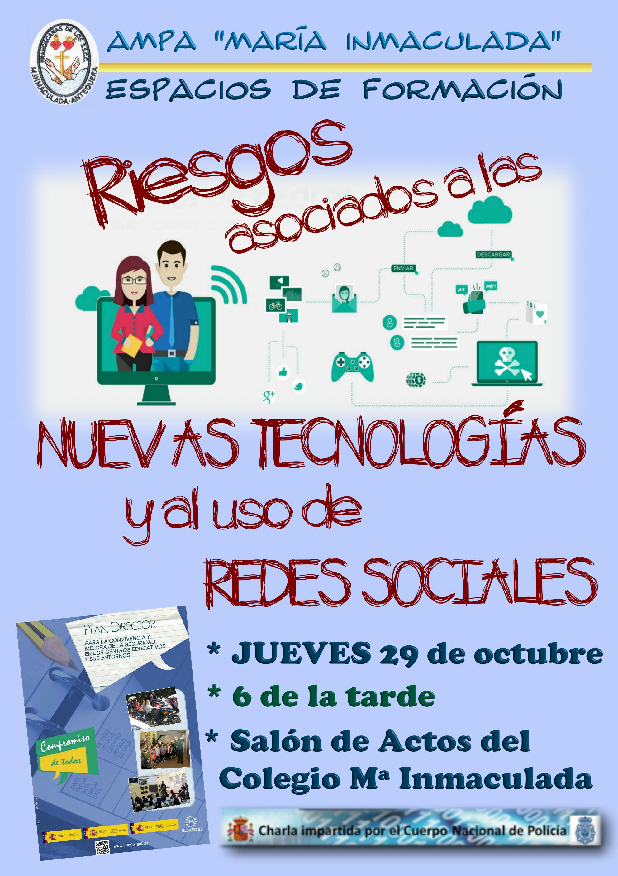 Conferencia sobre riesgos con las NNTT y las Redes Sociales