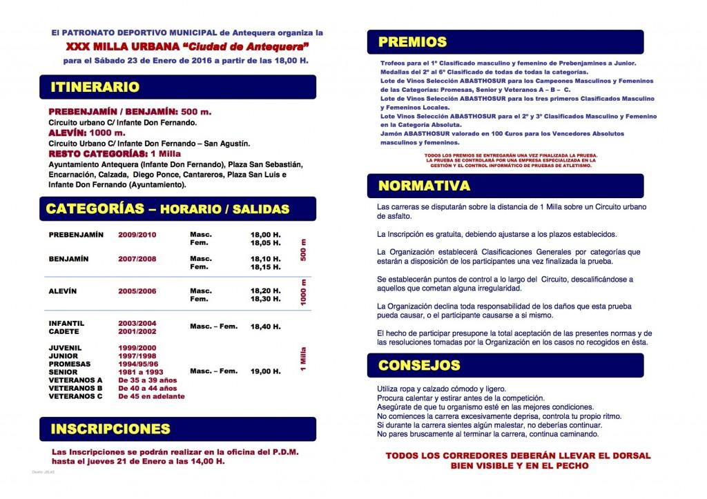 """Carrera """"Milla Urbana Ciudad de Antequera"""""""