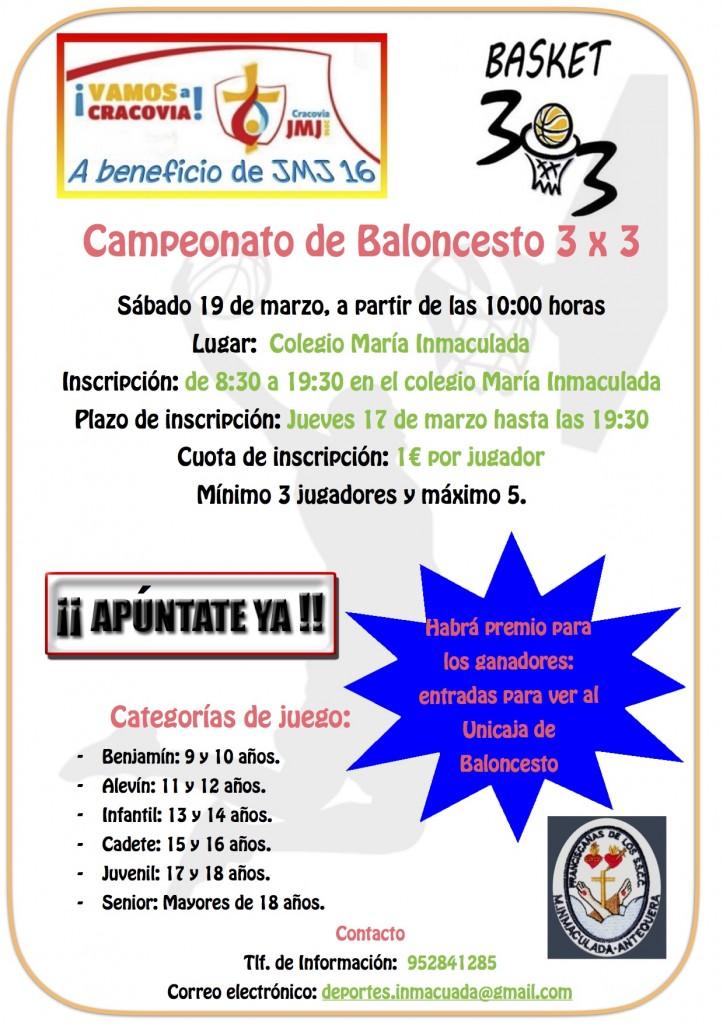 Torneo de Baloncesto 3x3 ¡¡Apúntate YA!!
