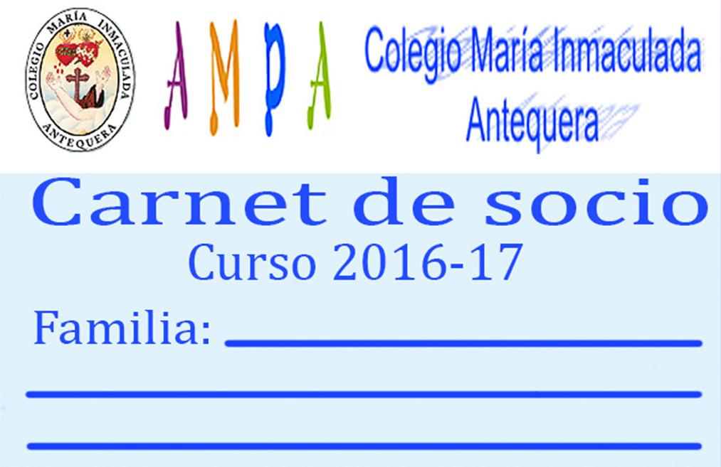 INFORMACIÓN CARNET SOCIO AMPA