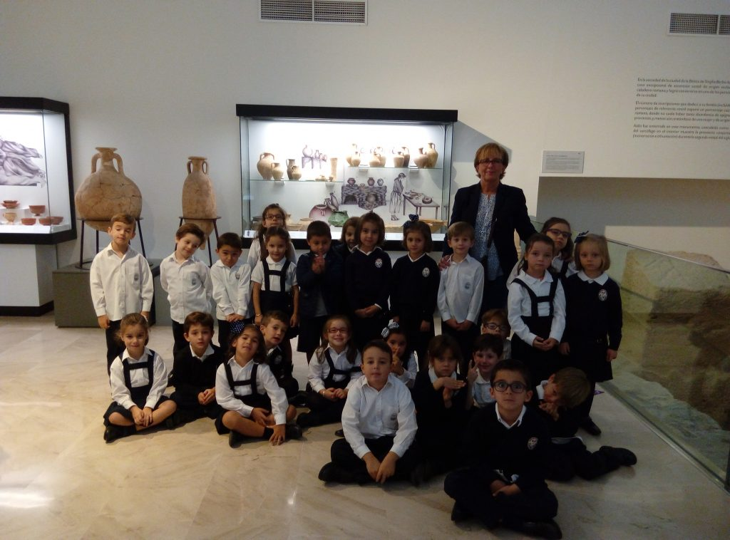 Los alumnos de 5 años en el Museo