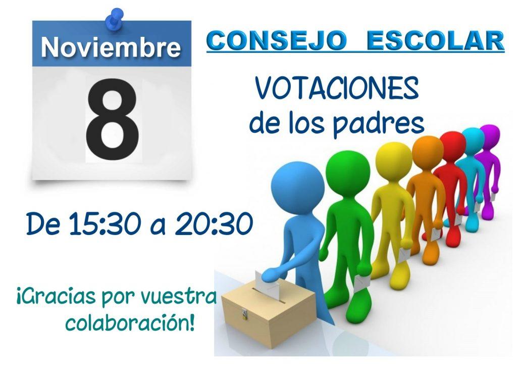 ELECCIONES AL CONSEJO ESCOLAR * Votaciones de los PADRES y MADRES