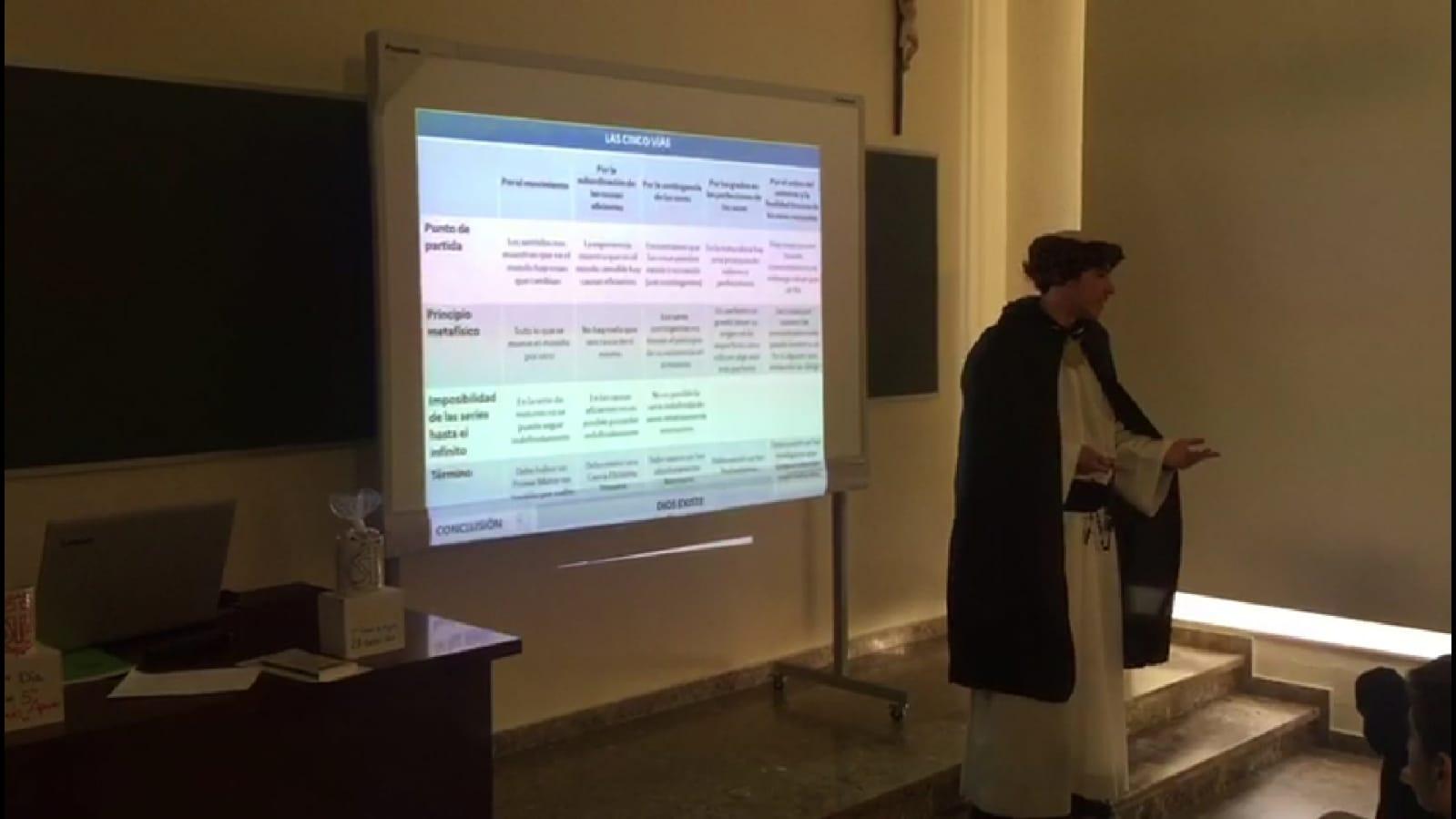 Los alumnos de 2º de Bachillerato nos acercan la figura de Santo Tomás de Aquino