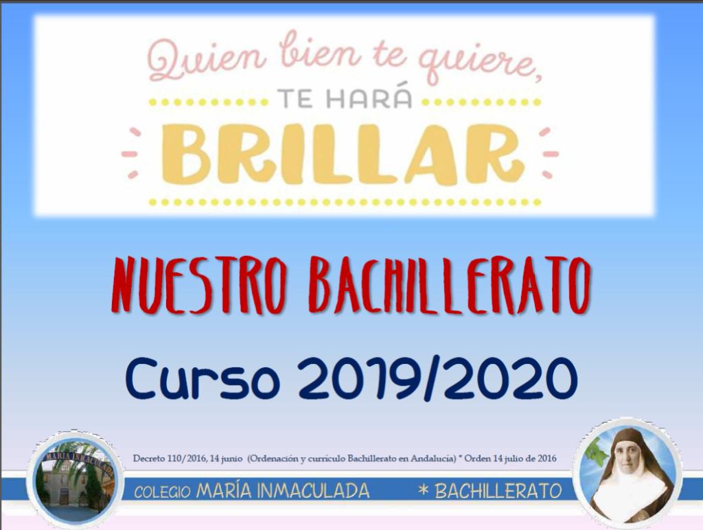 Nuestro Bachillerato, curso 2019-2020.