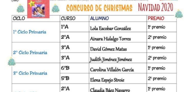 GANADORES CONCURSO CHRISTMAS